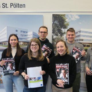 mwf-Studierende im Börse Social Magazine (Fotocredits: Tatjana Aubram)