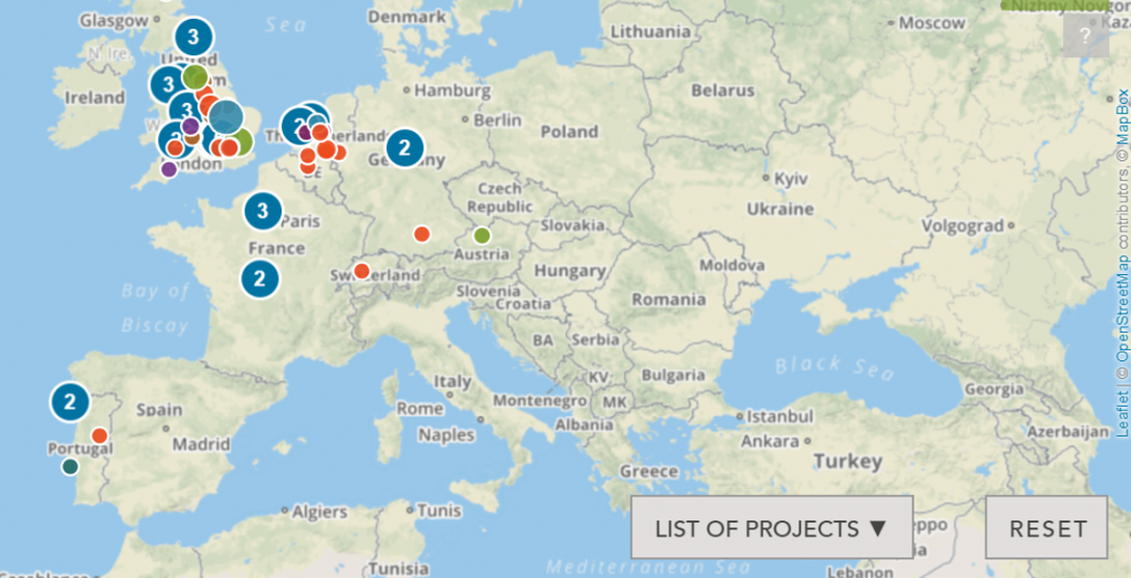 Screenshot SIB-Database Europa (Credits: https://sibdatabase.socialfinance.org.uk)